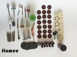 """Image 5 - Fixmee 100 adet döner aracı aksesuar Bit Set takım elbise Dremel 1/8 """"(3.175mm) saplı taşlama parlatma rotatif makinesi"""