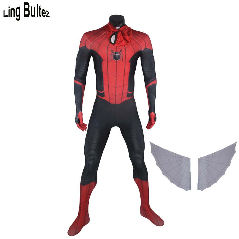 Ling Bultez High Quality Newest FFH Spider Man Cosplay Costume Spiderman Far From Home Costume For
