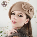 Настоящее Boina Feminina лежа кепка Boina Infantil мода на нью-фонда осень зима элегантный женщины шерсть войлок берет шляпа [ gen-313 ]