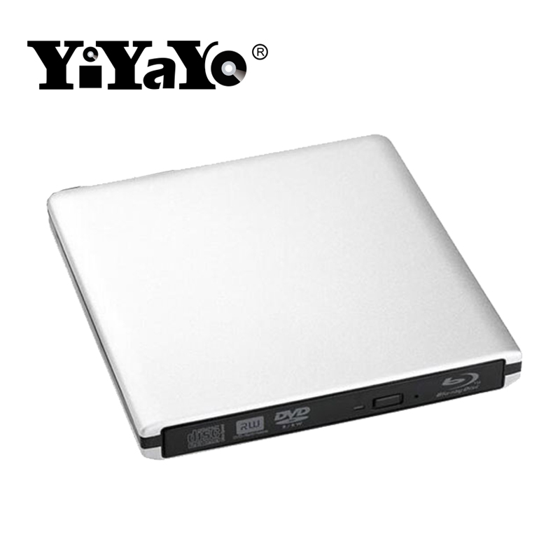 YiYaYo USB 3.0 Bluray Drive External Optical Drive BD-ROM DVD-ROM 3D Player CD/DVD RW Burner Read Laptop for Windows 10/7/8