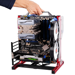 Draagbare Verticale PC Testbank Open Frame Computer Stand CaseDIY Mod Moederbord ATX M-ATX ITX Chassic Hand Held Grafische kaart