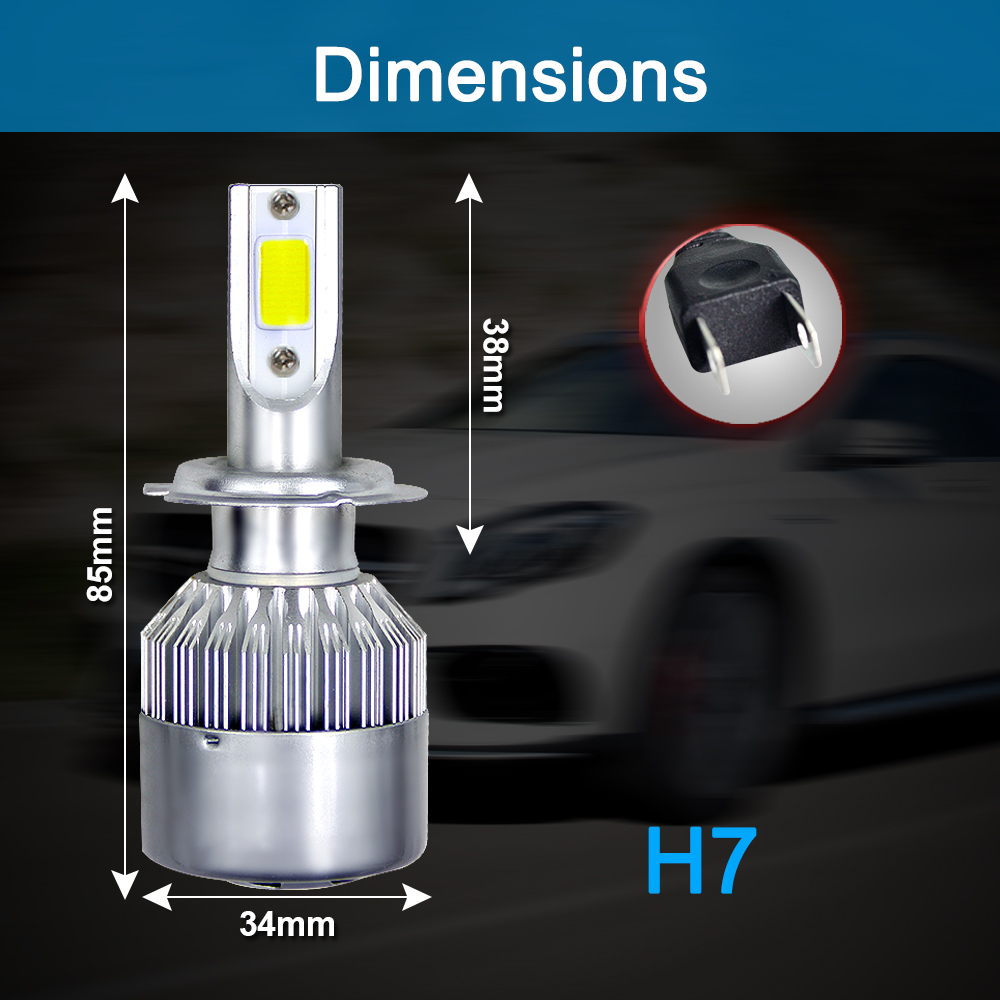 NEW Arrivals Car Lights Bulbs LED H4 H7 9003 HB2 H11 LED H1 H3 H8 H9 880 9005 9006 H13 9004 9007 Auto Headlights 12V Led Light (4)