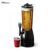 2 5L Beer Dispenser Ice Core Beer Machine Beverage Dispenser For Water Soft Drinks Juice Soda