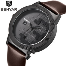 BENYAR Luxury Brand Watches Men Quartz Analog Leather Wristwatch Clock Mens Sports Watches Military Army Watch Relogio Masculino hannah martin original luxury brand leather steel army military quartz watche men hour clock sports wristwatch relogio masculino