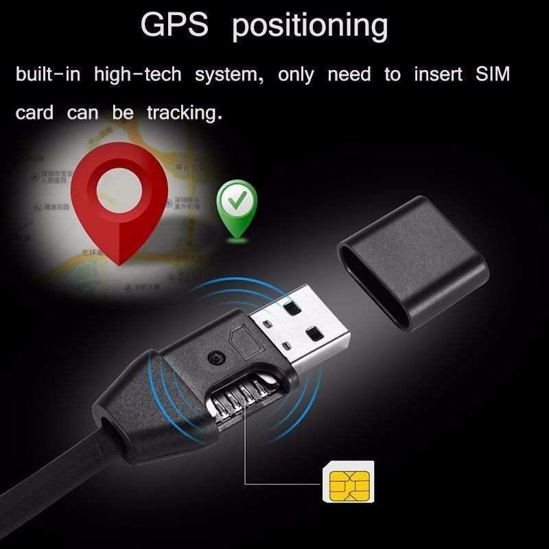 GPS Tracker Charging Cable Line Tracker Remote Tracking Cable GIM Answer Monitor USB Charging Data Cable GPS Locator Cable