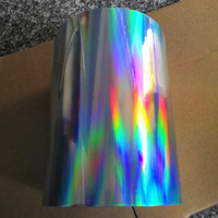 self adhesive Sticker plain rainbow holographic PP smooth Film 21cm x 100m in roll