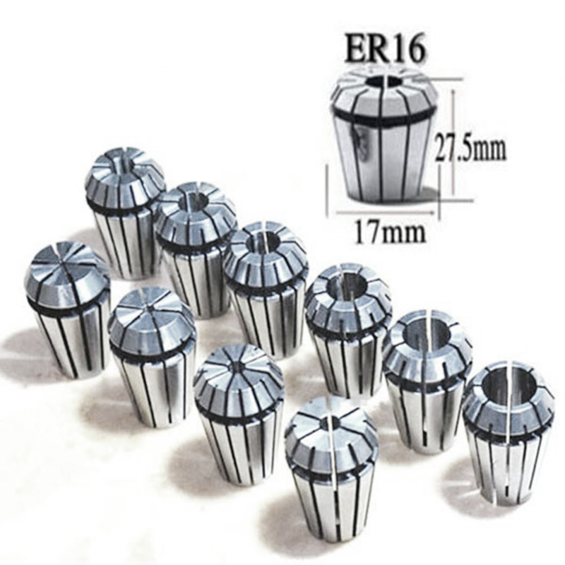 Retail 10Pcs/Set Ultra Precision ER16 1-10MM Spring Collet Set For CNC Milling Lathe Tool Engraving Machine Spring Collet Chuck