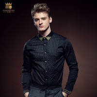 Free Shipping Fashion Casual New Man Male Men S Winter Business Butterfly Long Sleeved Shirt Shirts