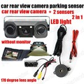 2 In 1 Car Vehicle Rear Backup View Camera 2 Sensor Reversing Radar Video System