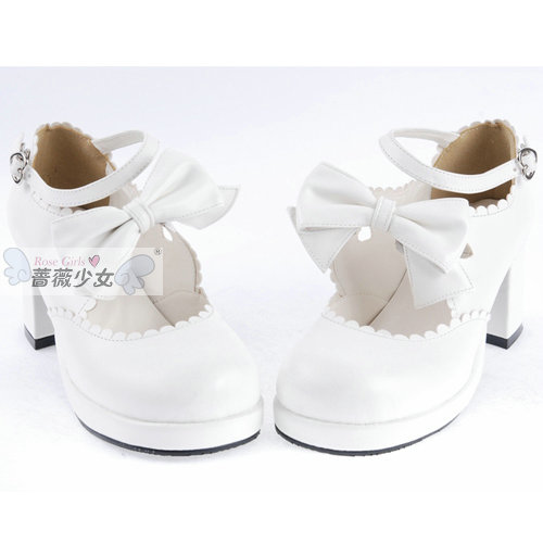 Lolita Thick Heel Shoes Stage Shoes Anime Cosplay Shoes For Maid Free Shipping 35-39 ...
