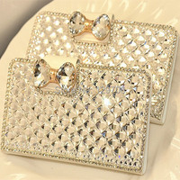 Luxury Diamond Rhinestone Case For IPhone 5 5S 4 Samsung Galaxy S3 S4 S5 I9600 Wallet