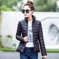 Зимой женщины с обеих сторон 90% белая утка пуховик женщины жилет жилет ультра-легкий пуховик теплая зима куртка Паркс YF139