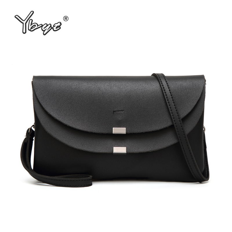 YBYT brand 2018 new casual PU leather women package envelope clutch female shopping bag ladies shoulder messenger crossbody bags new punk fashion metal tassel pu leather folding envelope bag clutch bag ladies shoulder bag purse crossbody messenger bag