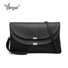 YBYT brand 2018 new casual PU leather women package envelope clutch female shopping bag ladies shoulder messenger crossbody bags