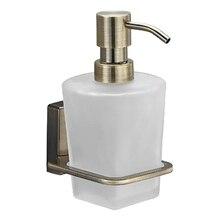 Дозатор жидкого мыла WasserKRAFT Exter K-5299 (Металл, уплотнительные пластиковые кольца, матовое стекло, покрытие