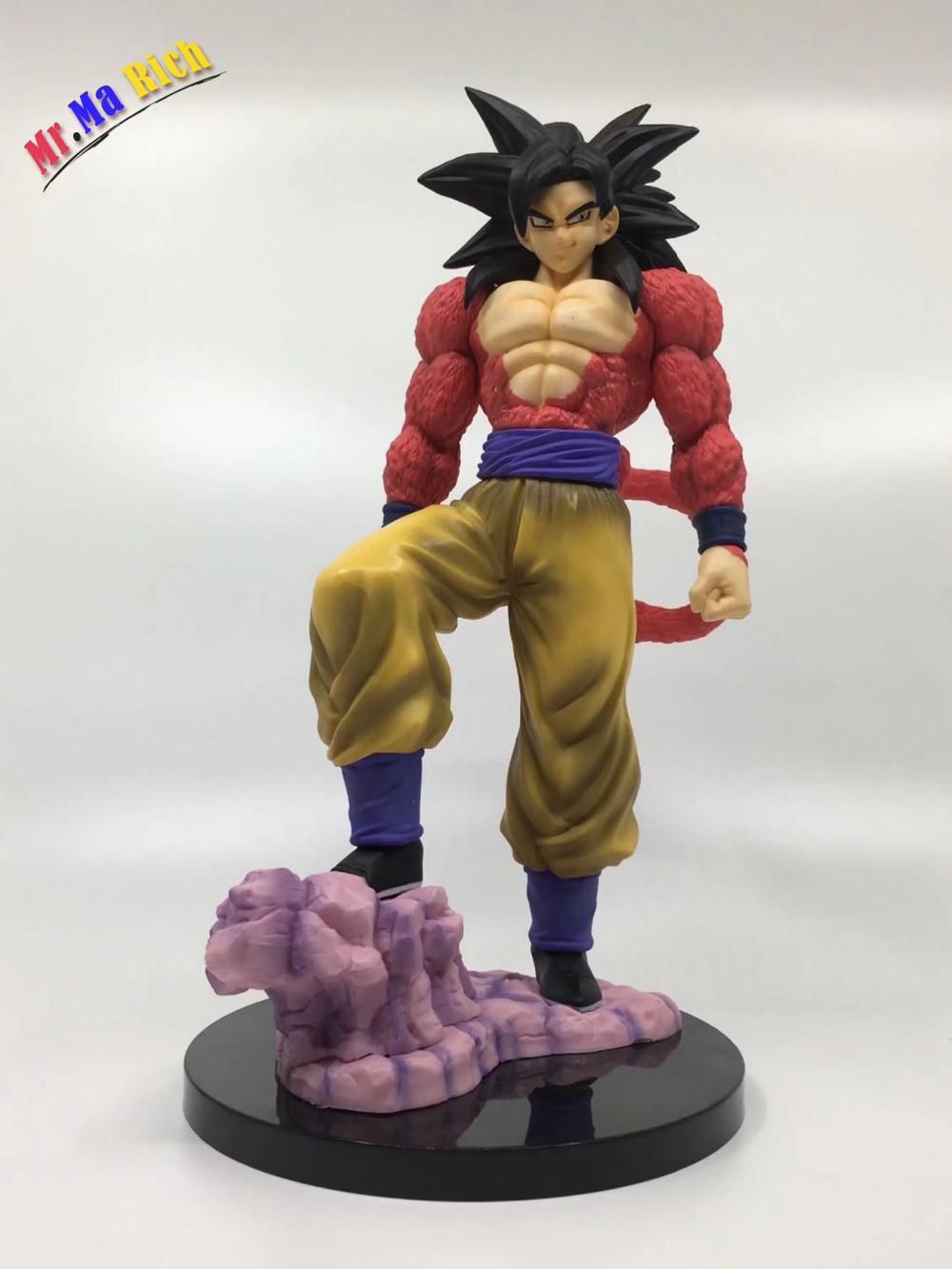 Figurine Anime boule 26 cm Super Saiyan 4 fils Goku Pvc Figure de collection modèle jouet cadeau avec boîte