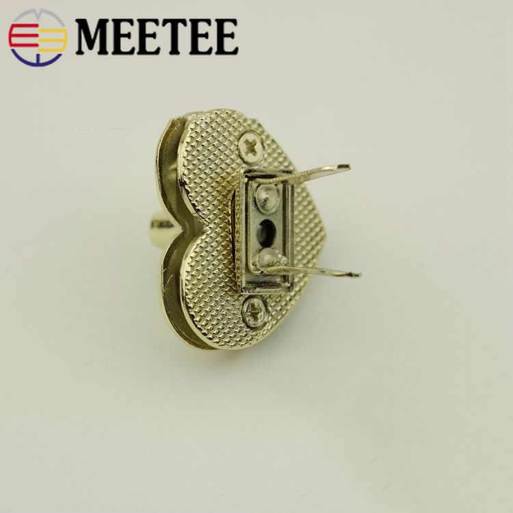 5Pcs Female Handbag Metal Locks Button Bag Twist Turn Lock For DIY Replacement Bag Purse Snap Clasp Closure Hardware Accessories