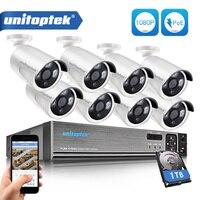 8CH 1080P 48V POE NVR 2 0MP 3000TVL Night Vision POE IP Camera P2P CCTV System