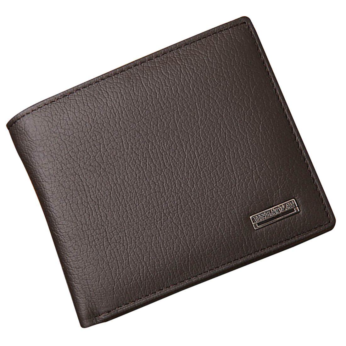 Hot Fashion JINBAOLAI Small Short Leather Mens Wallet Male Wallet Bag Wallet Vallet Card Money Persian world Wallet(Black)