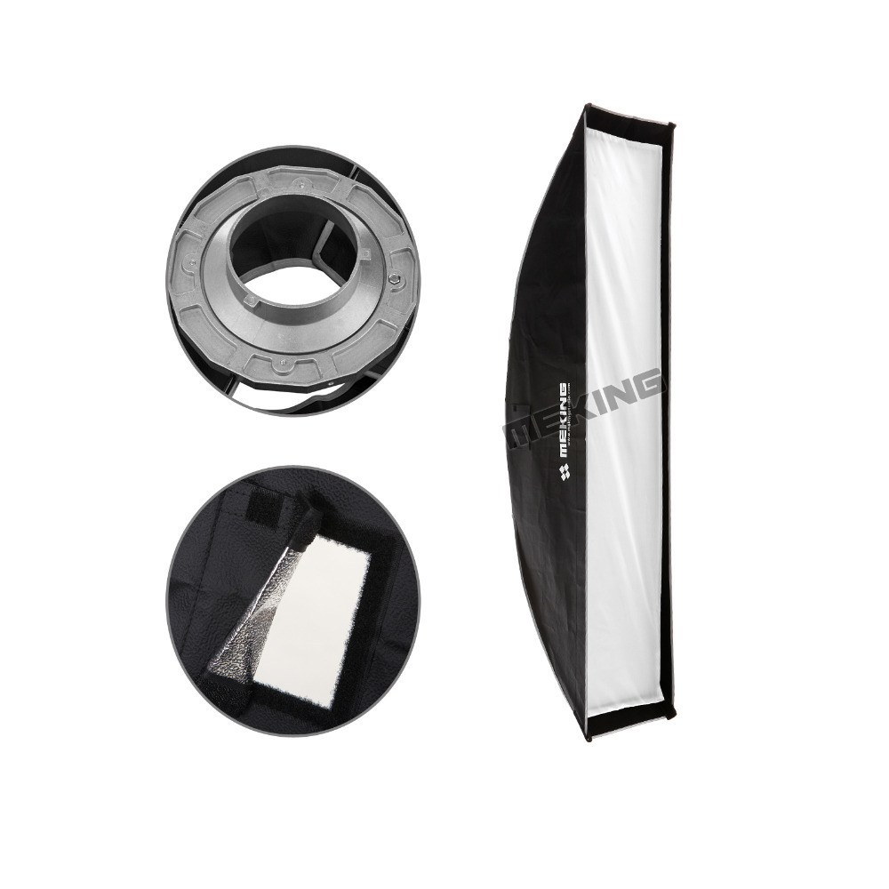 Meking Soft box 30cmx120cm 12x48 Strobe Mono light Softbox with Speed ring Bowens Mount photographic Photo Studio Accessories Meking Soft box 30cmx120cm 12x48 Strobe Mono light Softbox with Speed ring Bowens Mount photographic Photo Studio Accessories