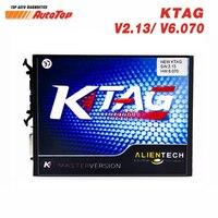 2017 Nova KTAG V2.13 FW 6.070 Car ECU Tuning Chip Ferramenta K-TAG Ferramenta de Programação ECU mestre Versão Sem Limite de Token Frete ECM titânio