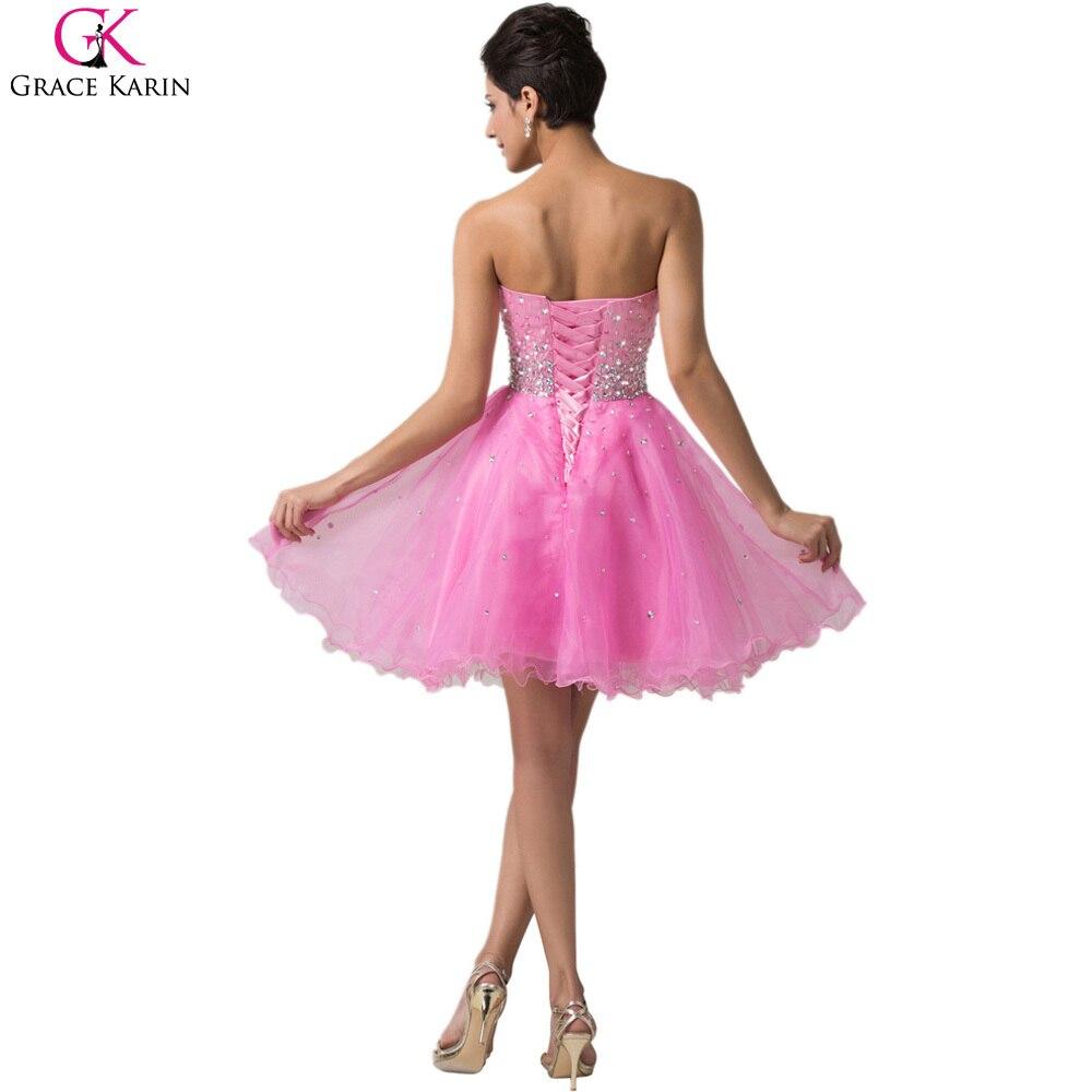 Grace karin vestidos de noche cortos vestidos sin tirantes de ...