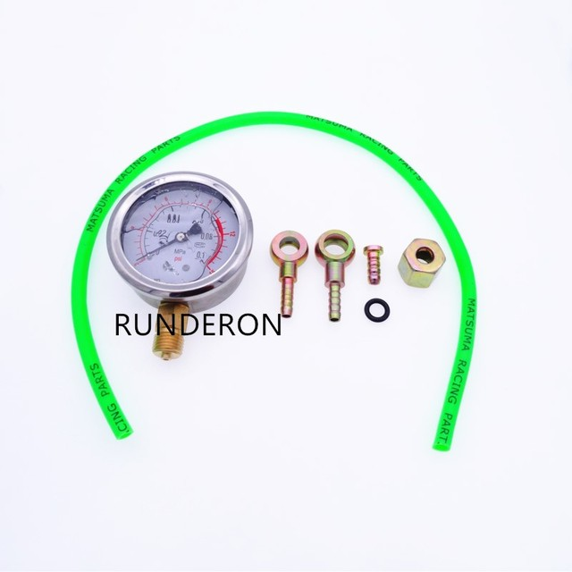 Engine Fuel System Turbocharger Turbo Oil Pressure Gauge 0.1Mpa Tester Diagnosis Shockproof High Precision Tool Kit