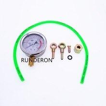 Sistema de Combustível do motor Turbocharger Turbo 0.1Mpa Tester Ferramenta de Diagnóstico À Prova de Choque de Alta Precisão Medidor De Pressão De Óleo Kit