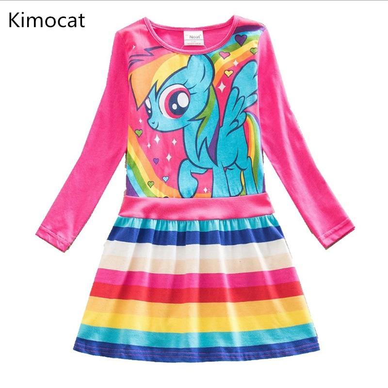 2018 new Baby girl dress my little poli cotton dress girl wear kids clothes children summer dress baby g irls clothes cute pony
