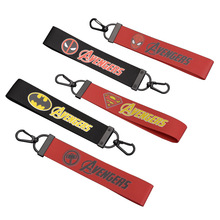 Marvel Keychain Avengers Car Ribbon Key Chain Spider Iron Man Raytheon Bag Pendant Gift