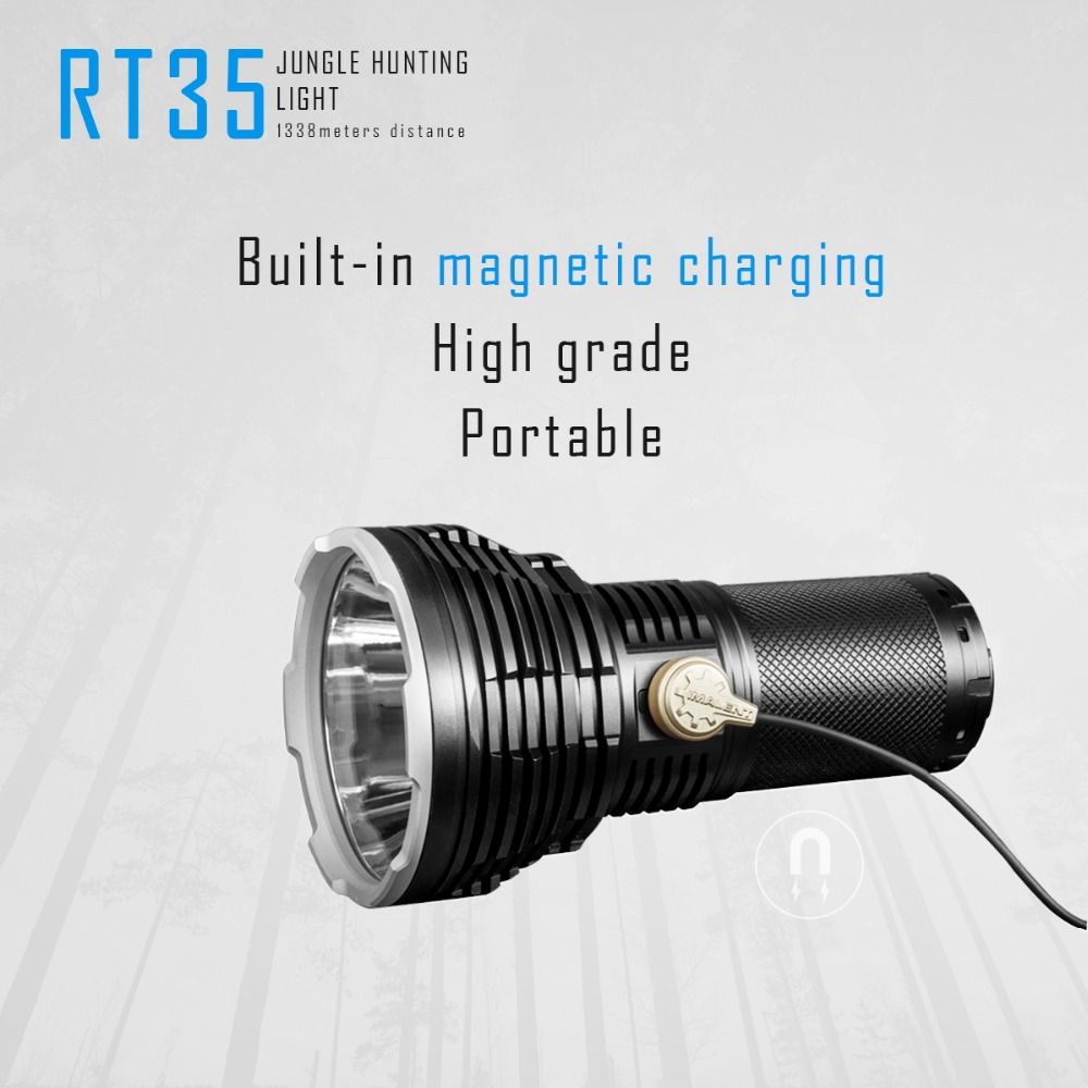 Image 2 - IMALENT RT35 Magnetic Charging flashlight  XHP35 HI LED max 2350 lumen beam distance 1338m outdoor torch handheld searchlight-in Flashlights & Torches from Lights & Lighting