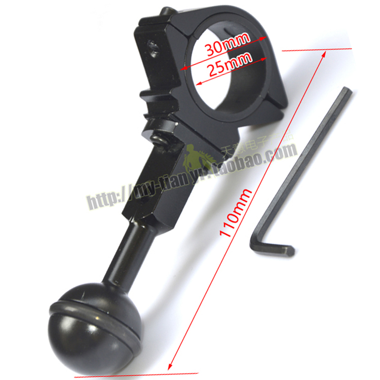 25mm/30mm torch mount Universal Ball Joint Bracket Arm for Buoyancy fill light lamp holder diving torch photography lights