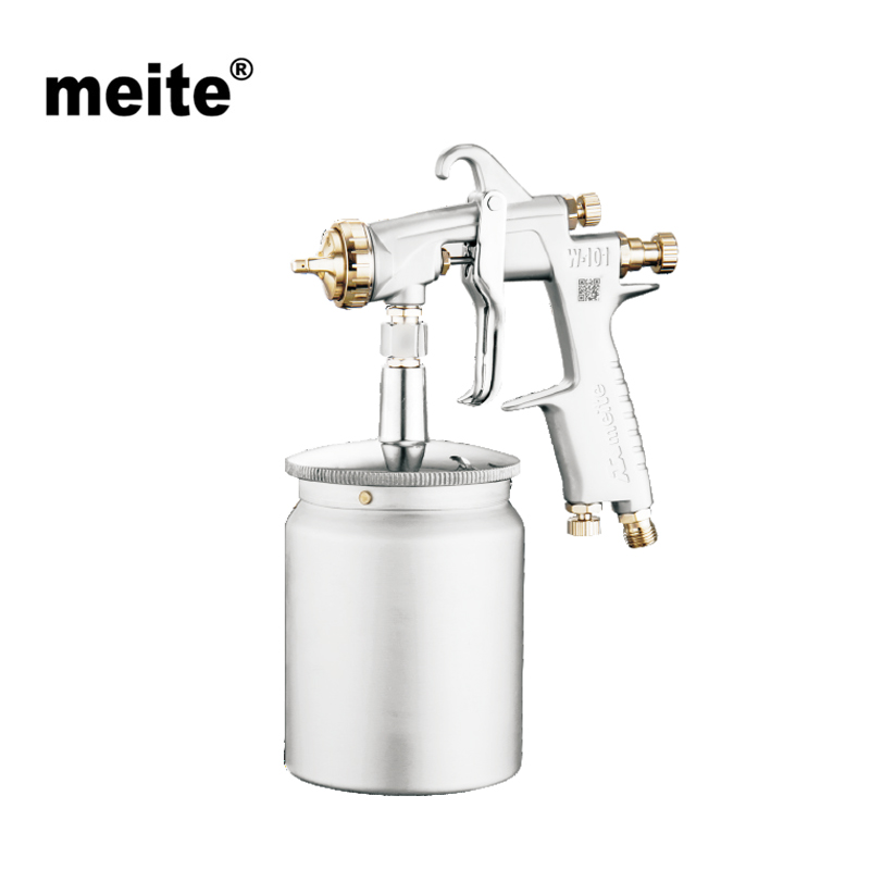 MEITE MT-W101-101S mid-sized spray gun  H.V.L.P tool for car paint in high efficiency and 600cc cup suction type in 1.0mm nozzle fpgas 101