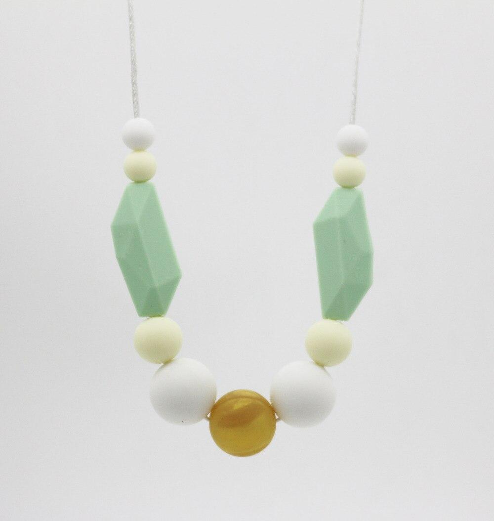 Новый драгоценного камня силикона прорезывания зубов ожерелье с 20 мм бусины для мамы