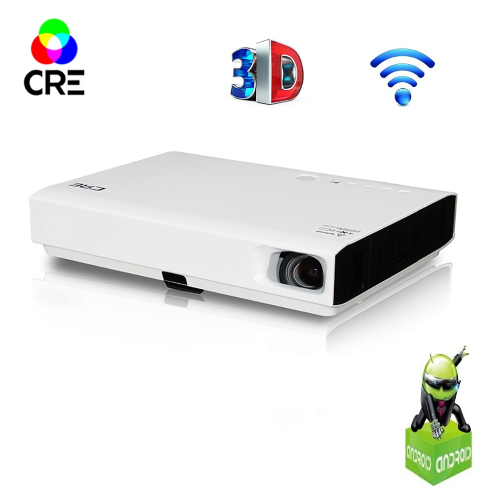 CRE 3 LED 3D dlp projector support 1080P 3000lumens  android wifi bluetooth projector for home,Business,Education Проектор