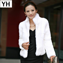Coat Jacket Rabbit-Fur Natural Thin Fashion Women Slim Full 100%Full-Pelt
