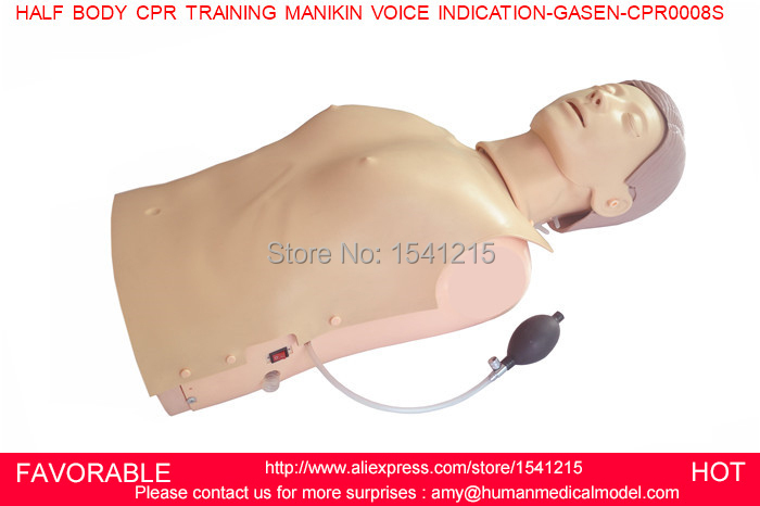 ADVANCED ADULT HALF BODY CPR TRAINING MANIKIN,FIRST AID MANIKIN,HALF BODY CPR TRAINING MANIKIN VOICE INDICATION-GASEN-CPRM0008S bix h2400 advanced full function nursing training manikin with blood pressure measure w194