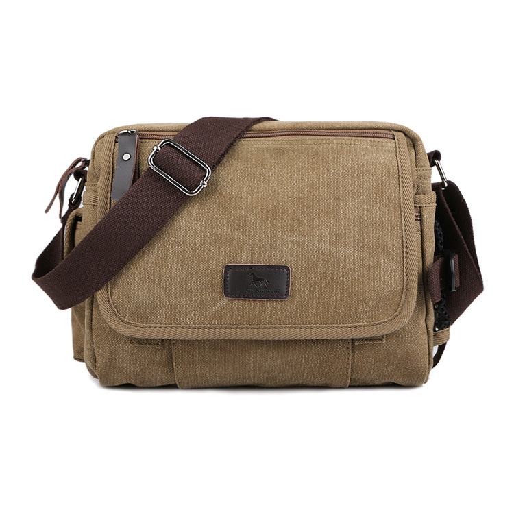 New Arrival Male 100% cotton classic canvas bag, man fashion shoulder bag small messenger bag, casual use high quality new shoulder casual bag messenger bag canvas man travel handbag for male trip daily use grey khaki black color fashion