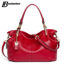 BOSTANTEN Casual Tote Women Shoulder Bags Cow Genuine Leather Women Bags Designer Brand Female Handbags Hobo Crossbody Bags Sac miss ying brand women genuine leather shoulder bags designer handbags high quality female large cow leather traveling tote bags