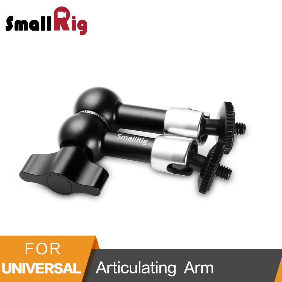 SmallRig 7 inch Adjustable Friction Power Articulating Magic Arm with Both 1/4 Thread Screw for LCD Monitor/LED Lights -2065