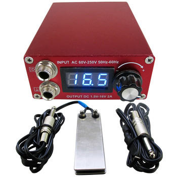 Tattoo Power Supply Set Kit LCD Display Double Ourput Digital Tattoo Power Supply Foot Pedal Switch Clip Cord Tattoo Kit Supply wholesale price stainless steel foot switch pedal tattoo clip cord for tattoo mahcine tattoo power supply free shipping