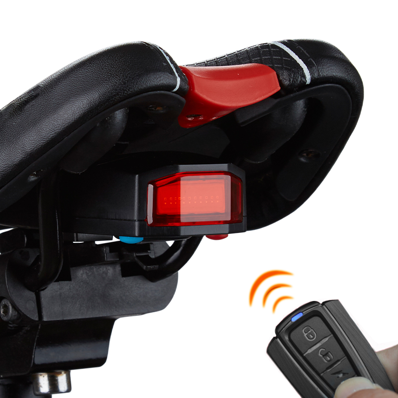 Liplasting Outdoor New Wireless Alarm Bike Bell Taillight Light Cycling LED Bicycle Remote Control Light USB Lock+Free shipping sb 270 outdoor cycling pc bike bell alarm lamp w mount holder dark red black 2 x aa