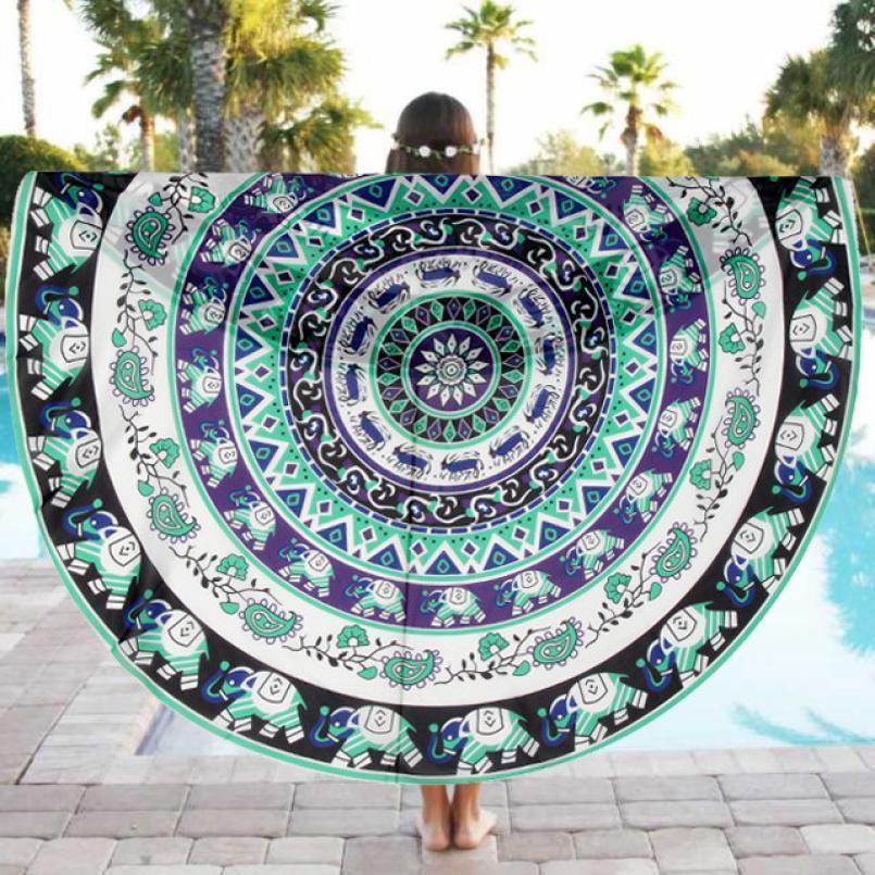 JA 12 Durable Beach MatHot Selling Fast Shipping Round Beach Pool Home Shower Towel Blanket Table Cloth Yoga Mat#1