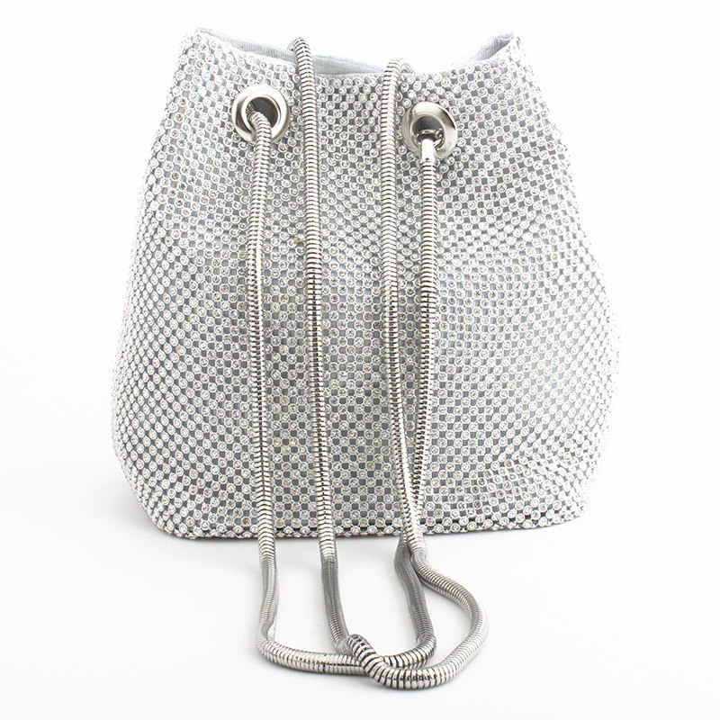 Clutch avondtasje luxe vrouwen tas schouder handtassen diamant tassen lady wedding party pouch kleine tas satijn bakken bolsa feminina