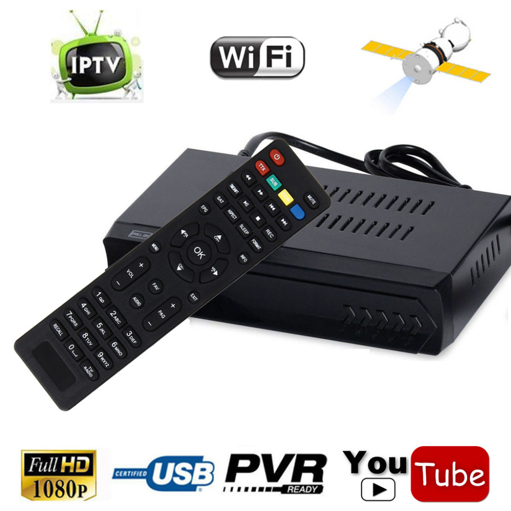1G RAM HD/SD DVB-S2 Digital Satellite Receiver + IPTV Combo Set Top BOX Support m3u Youtube Wifi IKS Biss Power VU CCCAM Newcam