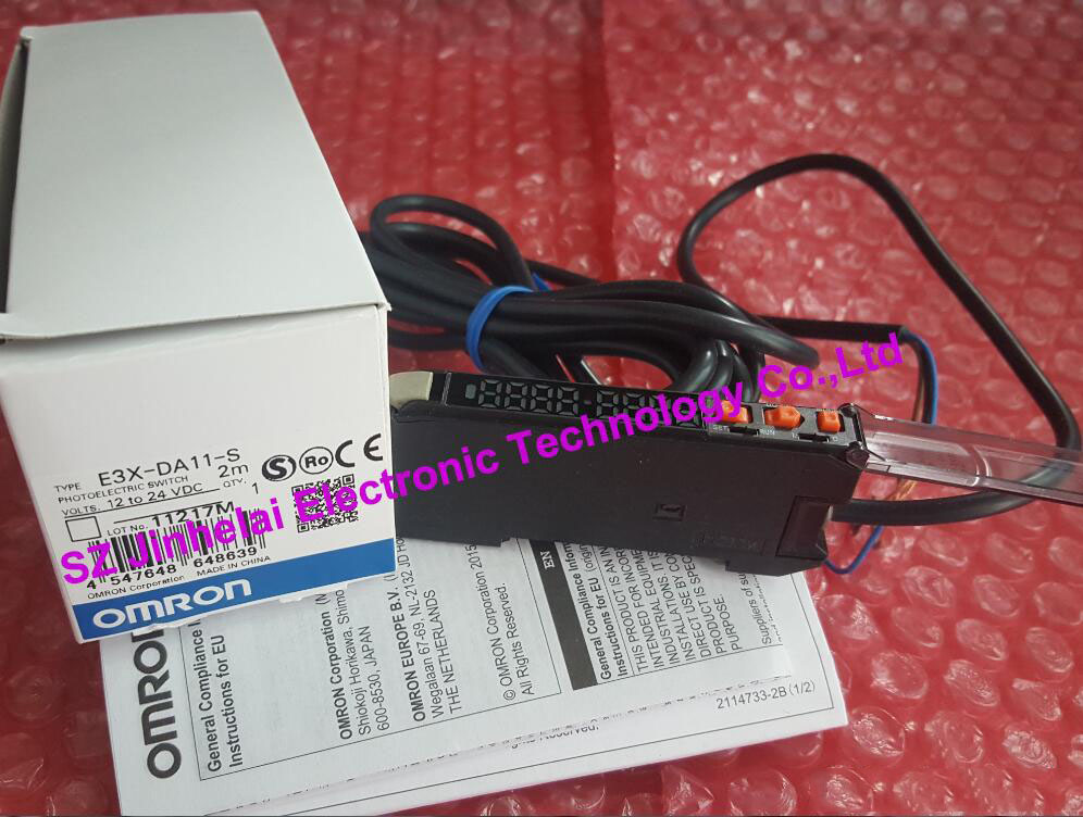 New and original  E3X-DA11-S   OMRON Optical fiber amplifier, Photoelectric switch   12-24VDC [zob] new original omron omron photoelectric switch e3s at11 2m e3r 5e4 2m