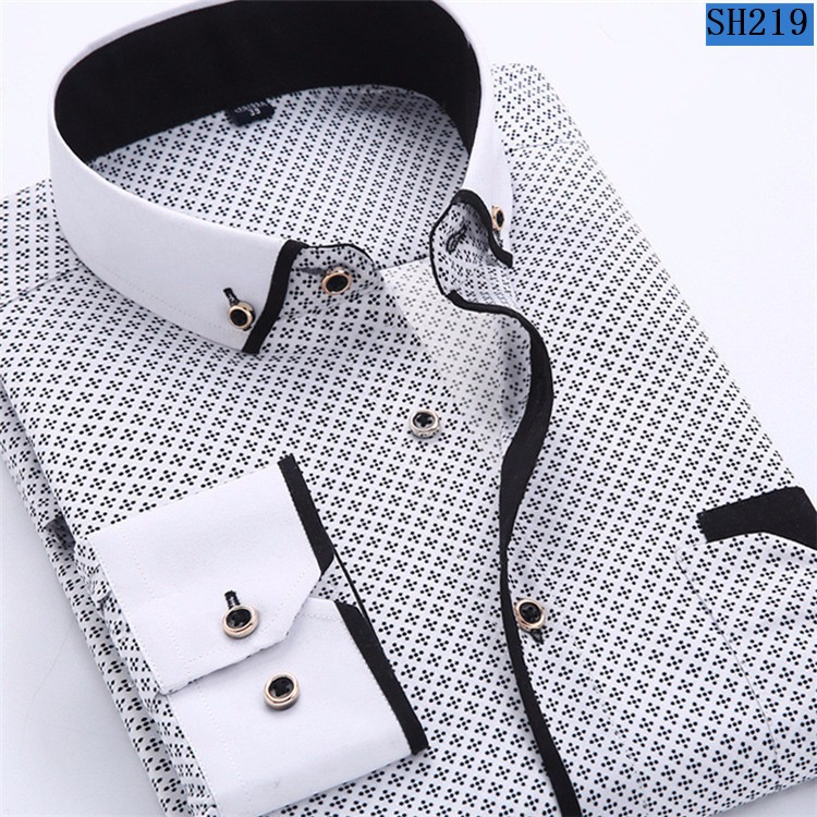 HTB1 4TQMpXXXXaFXXXXq6xXFXXX6 - 2017 Men Fashion Casual Long Sleeved Printed shirt Slim Fit Male