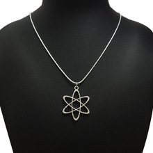 TJP Antique Silver Tone Hexagonal Star Charms Pendants Necklaces Fashion Short Snake Chain Choker Jewelry Gifts