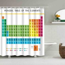 Buy periodic table fabric and get free shipping on aliexpress luxury smart collar shower curtain waterproof mildewproof polyester fabric bath curtains bathroom periodic table of ele urtaz Gallery