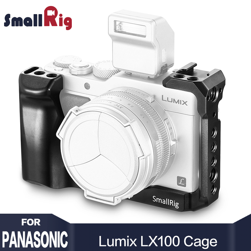 SmallRig LX100 Camera Cage for Panasonic Lumix LX100 with Cold Shoe Mount Handle Grip Arri Locating Holes 2198 картридж lx100 k 60 2 black